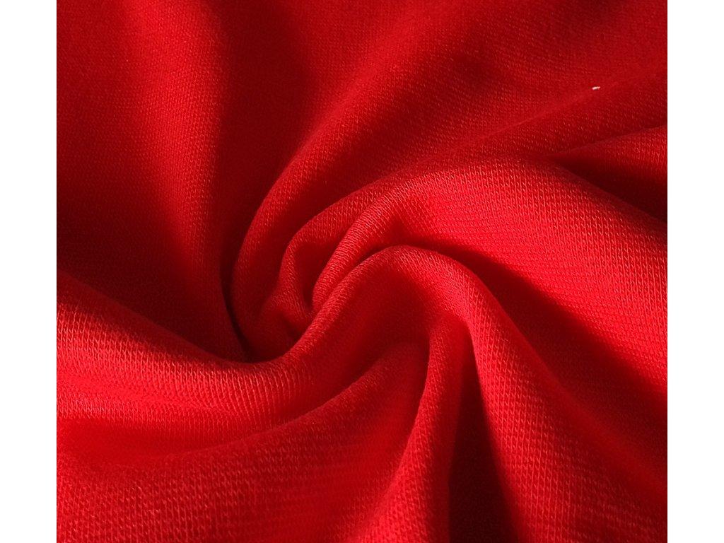 Náplet hladký extra šíře - jasně červený