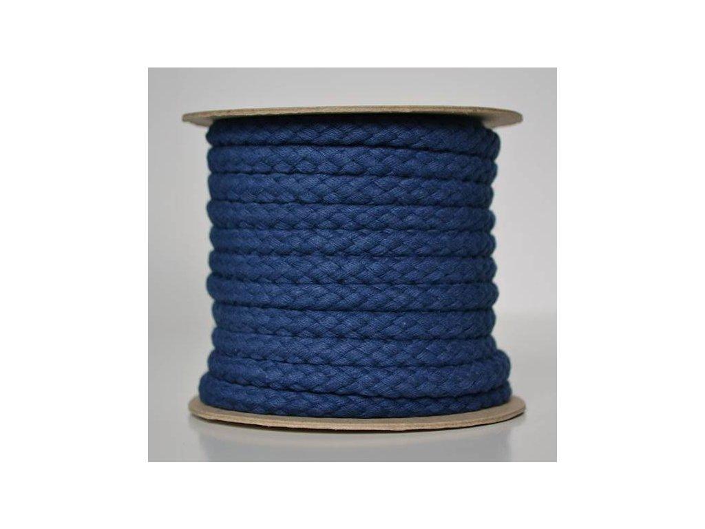 Bavlněná šňůrka 8,8mm - tmavě modrá