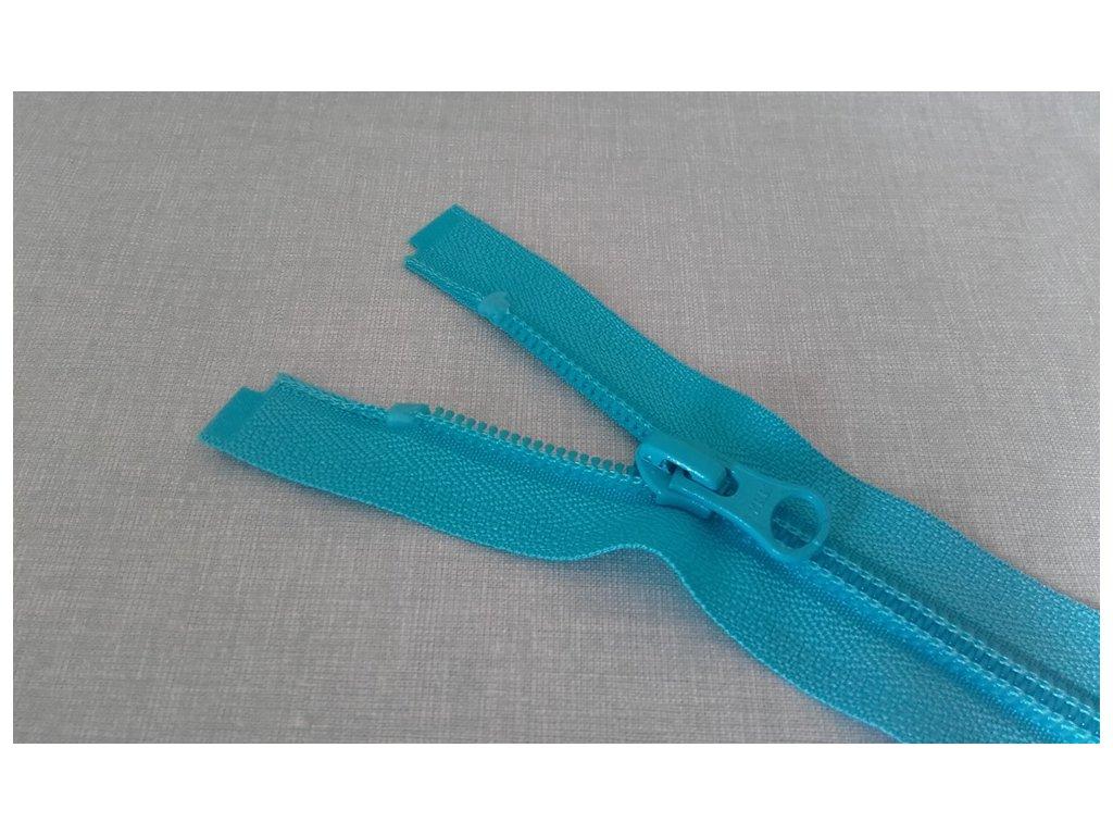 Spirálový zip YKK tyrkysový - 55 cm