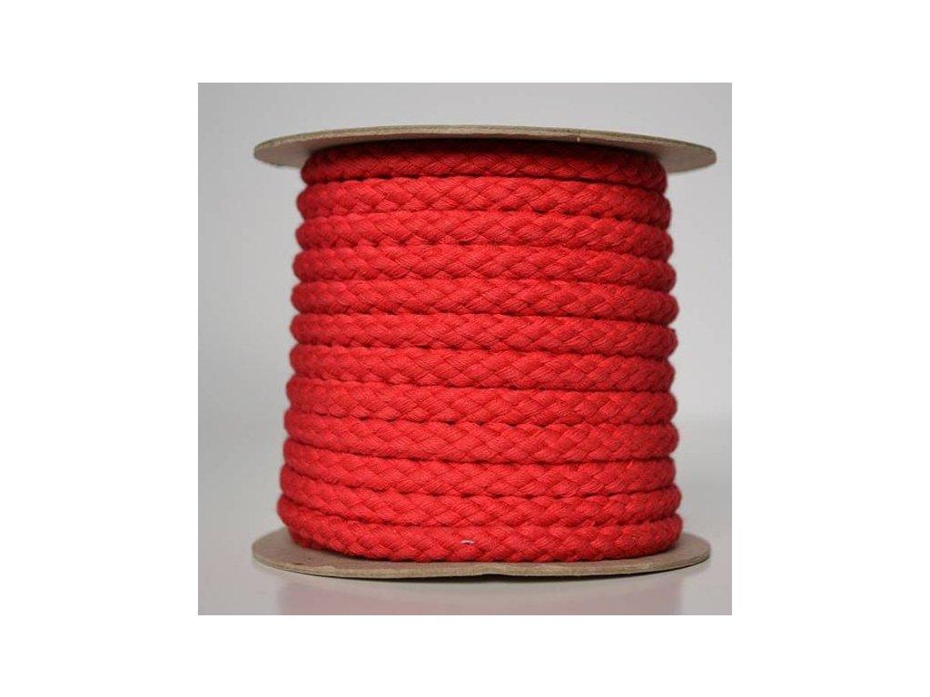 Bavlněná šňůrka 8,8mm - červená