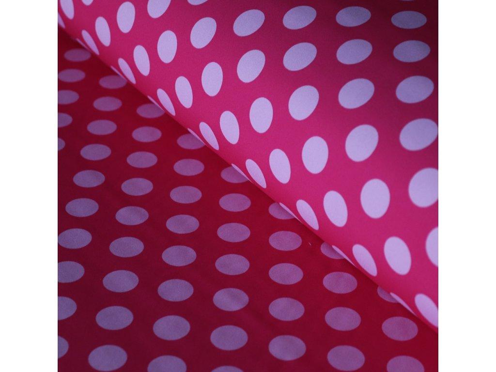 Softshell zimní - růžové puntíky
