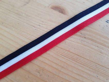 Lemovací prýmek - červeno modro bílé pruhy