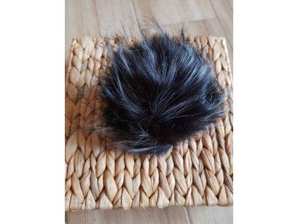 Bambule - 12 cm z umělé kožešiny černobílá