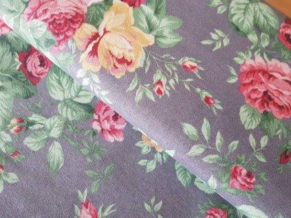 Režná - květy na šedé