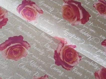 Režná - růže s písmem