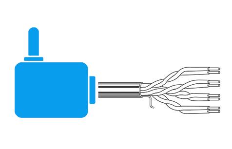 Kabeláž a napájanie videovrátnika Commax