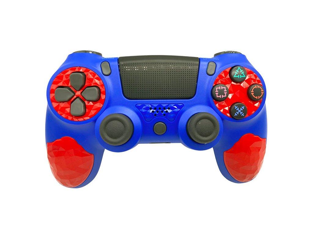 T-GAME DS10 modrý bezdrôtový herný ovládač pre PS4