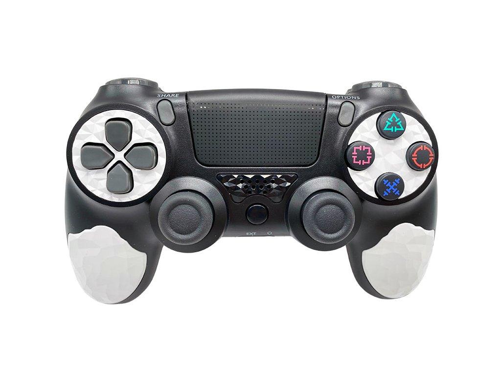 T-GAME DS10 čierny bezdrôtový herný ovládač pre PS4