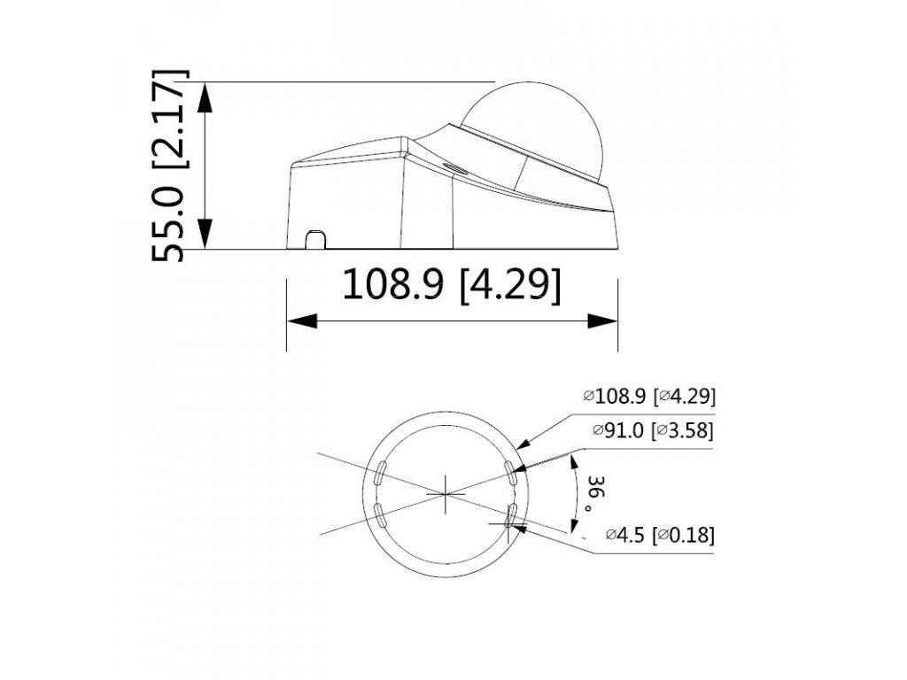 Dahua IPC-HDBW3241F-AS-M-0360B 2 Mpx dome IP kamera