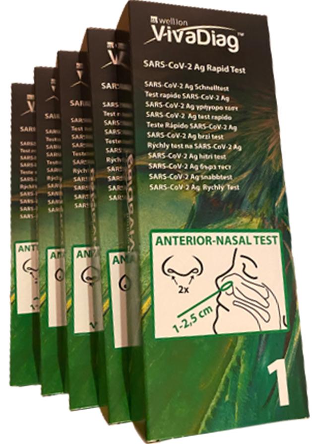wellion Antigenní testy pro PLYTKÝ VÝTĚR z nosu (5ks)