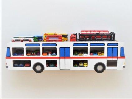 Polička na autíčka český autobus pravý