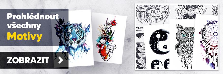 Teto - Dočasné tetování - Téměř tisíc nových motivů k okamžitému odeslání