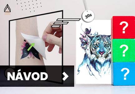 Teto - Dočasné tetování - Návod na aplikaci