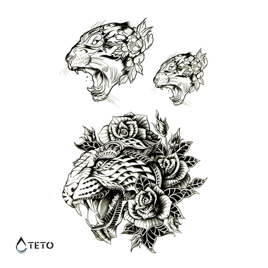 Tygr s květinou – set