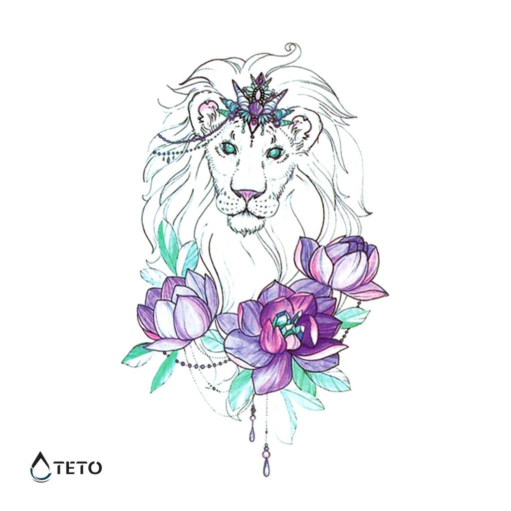 Lev s květinou