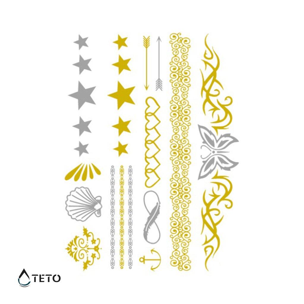 Náramky, Šperky – metalické – set