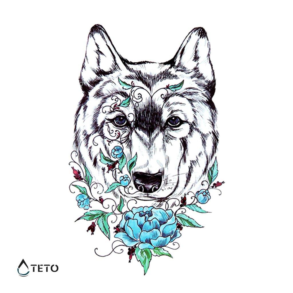 Vlk s květinou