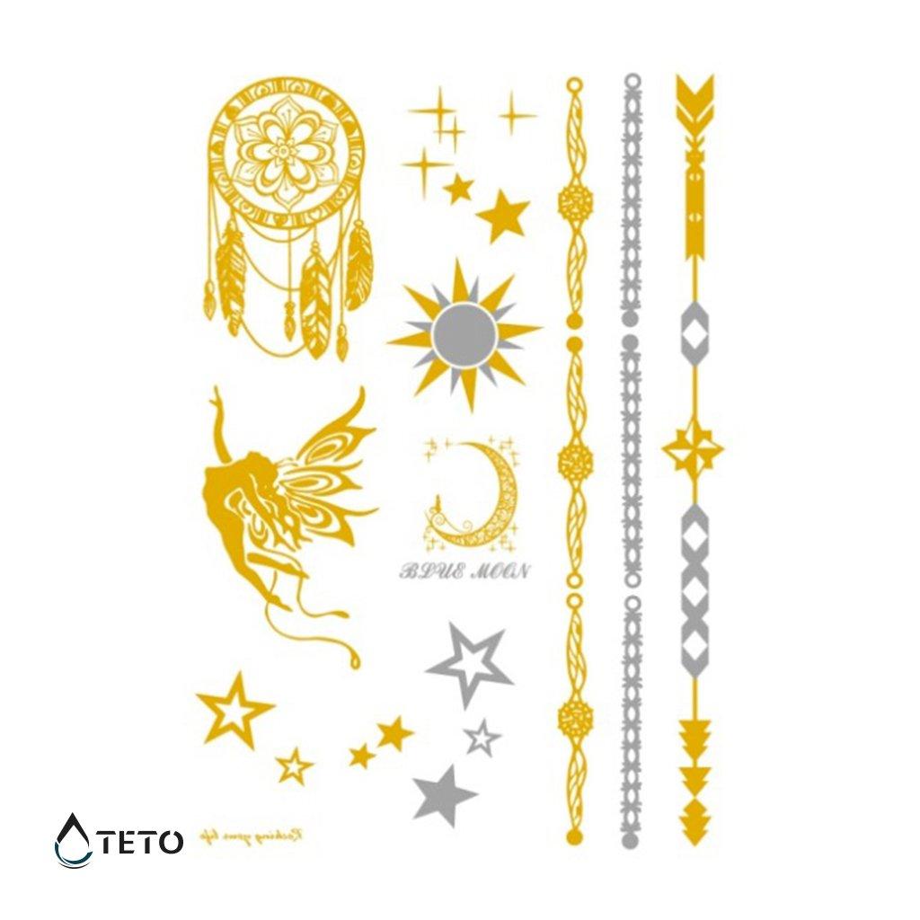 Náramky, Hvězdy, Lapač snů – metalické – set
