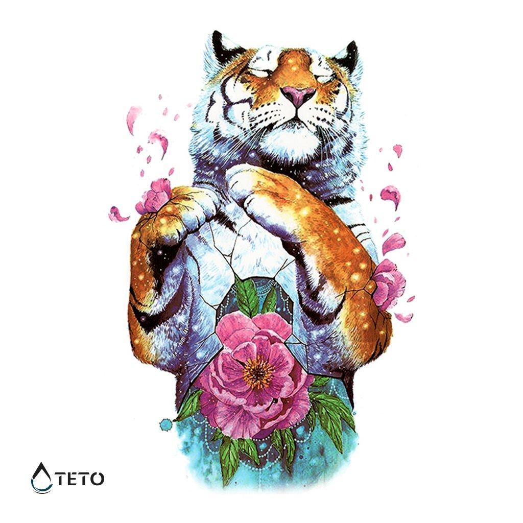 Tygr s květinou