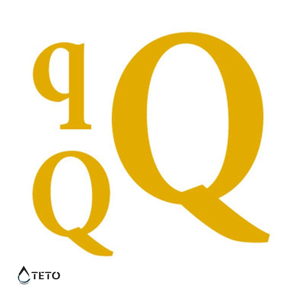 Písmeno Q – metalické – set