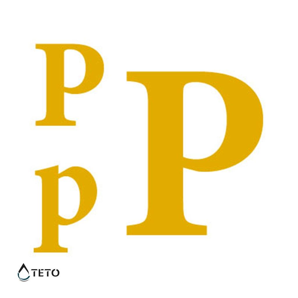 Písmeno P – metalické – set