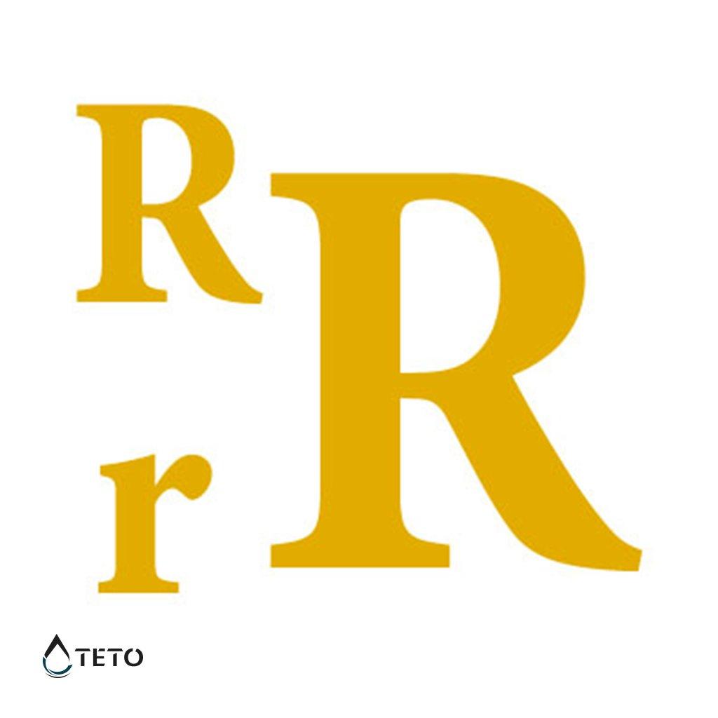 Písmeno R – metalické – set
