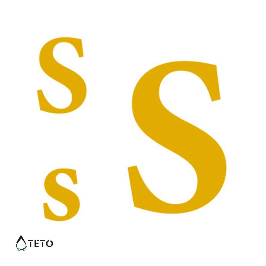 Písmeno S – metalické – set