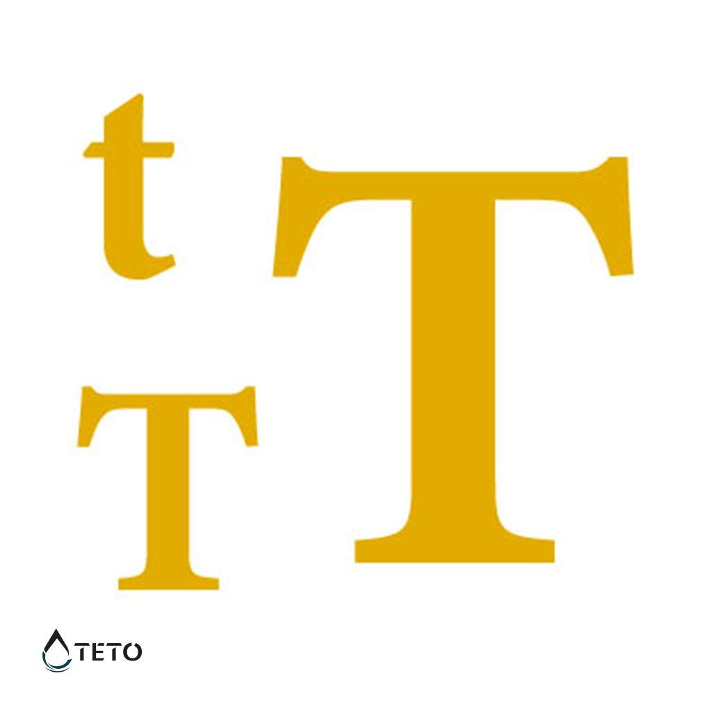 Písmeno T – metalické – set
