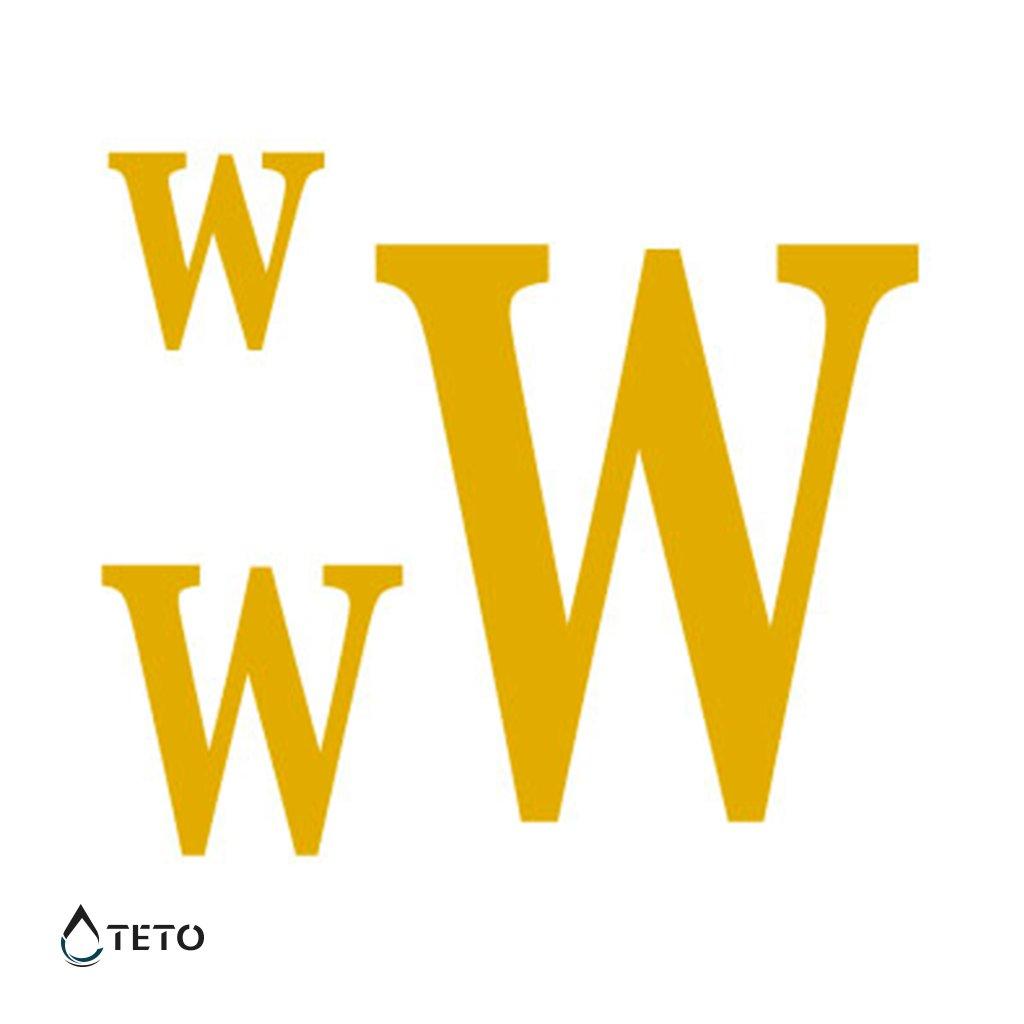 Písmeno W – metalické – set