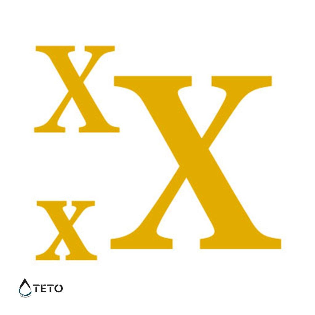 Písmeno X – metalické – set