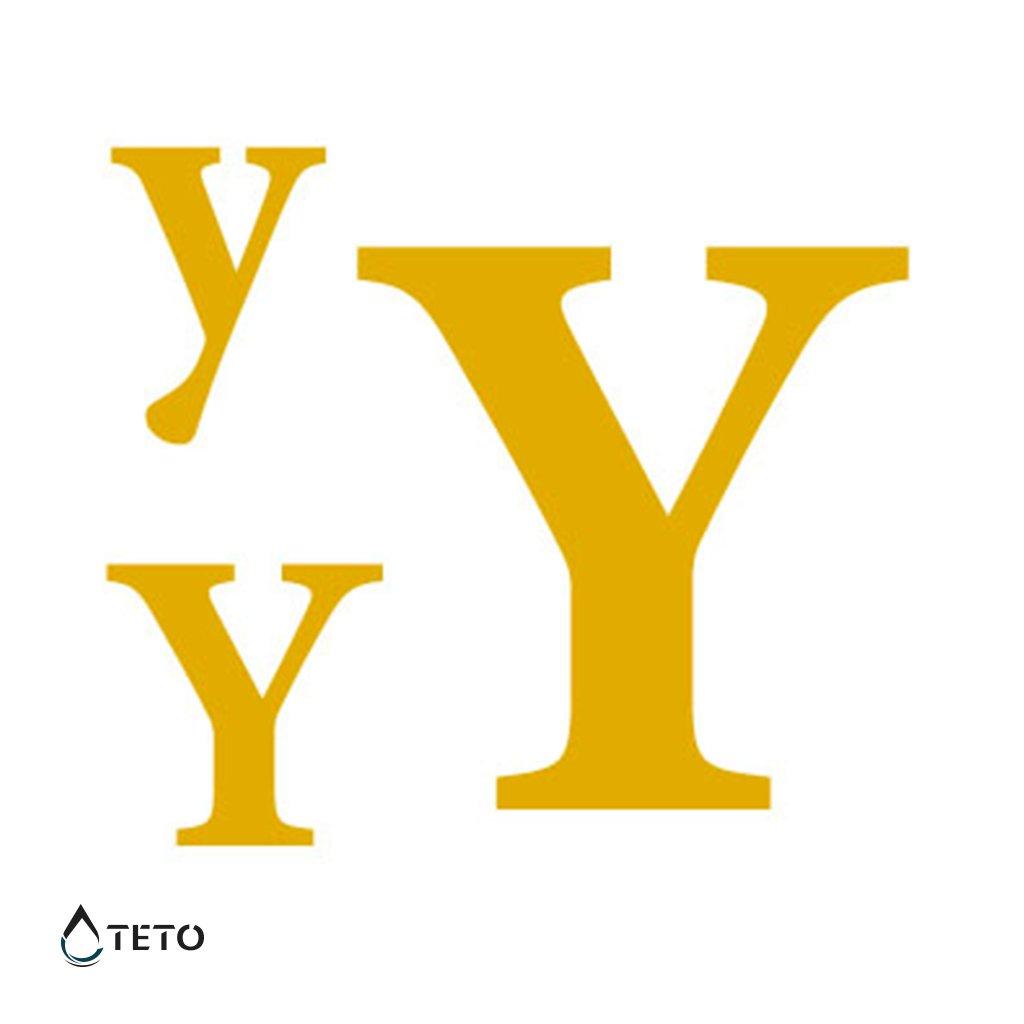 Písmeno Y – metalické – set