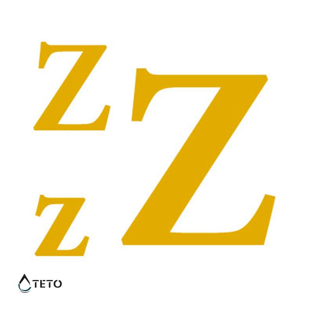 Písmeno Z – metalické – set