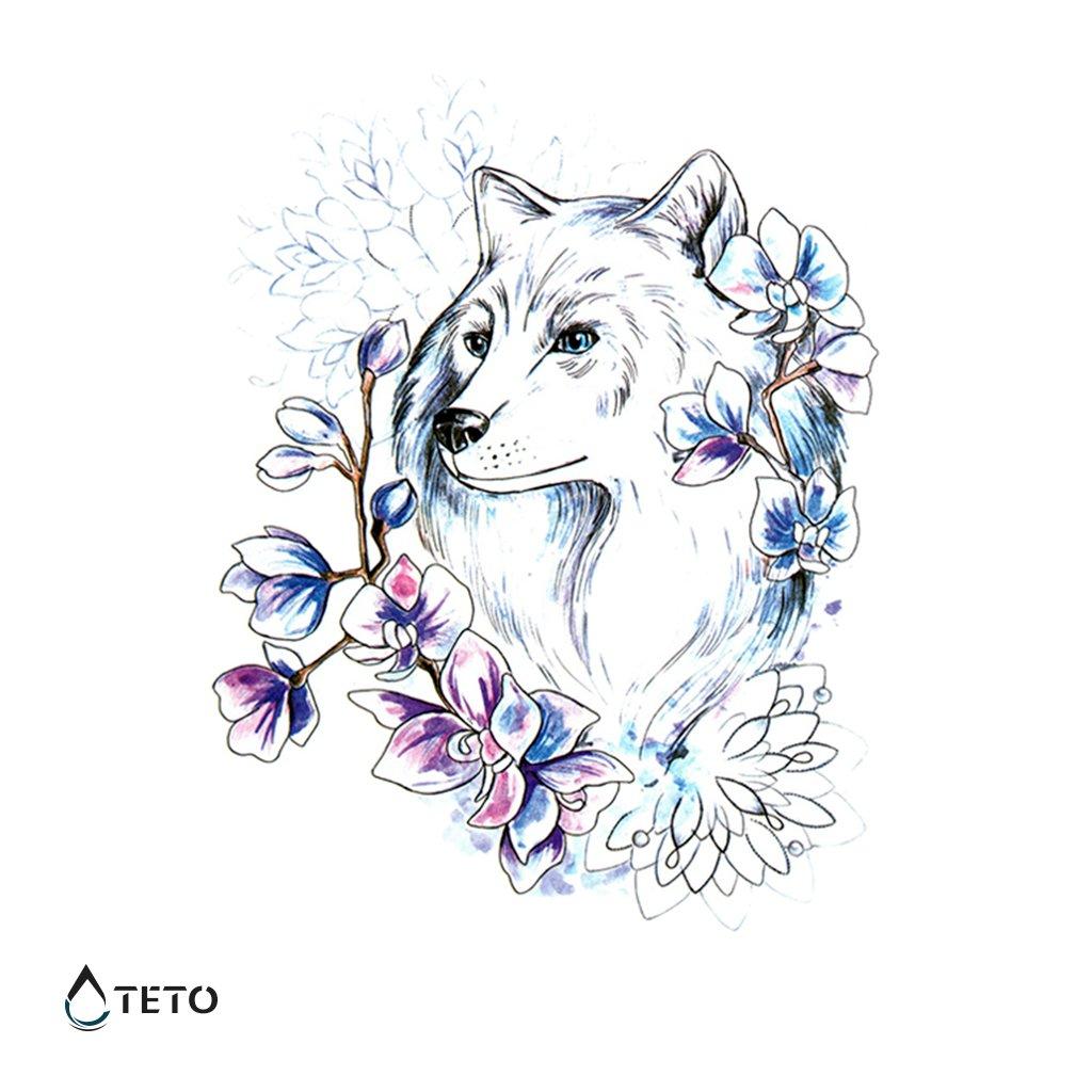 Pes a květiny