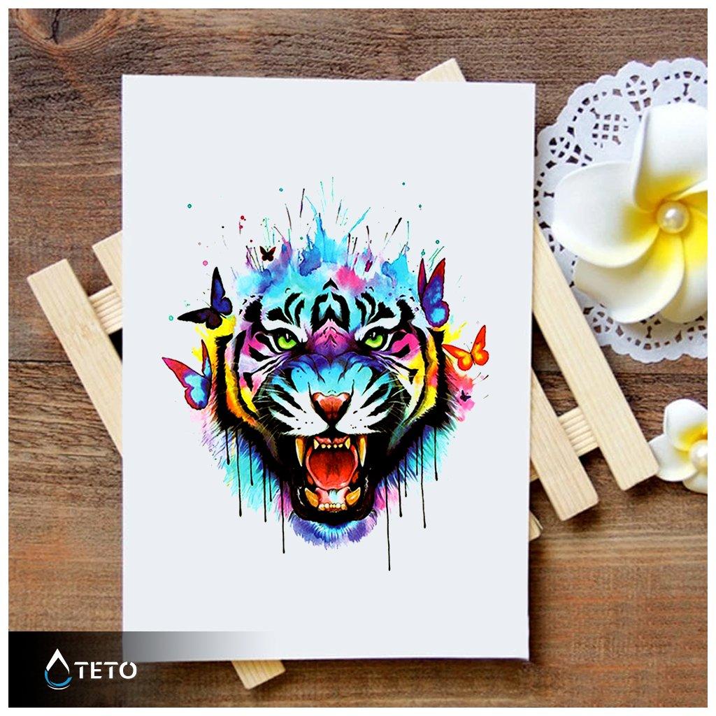 Tygr s motýli
