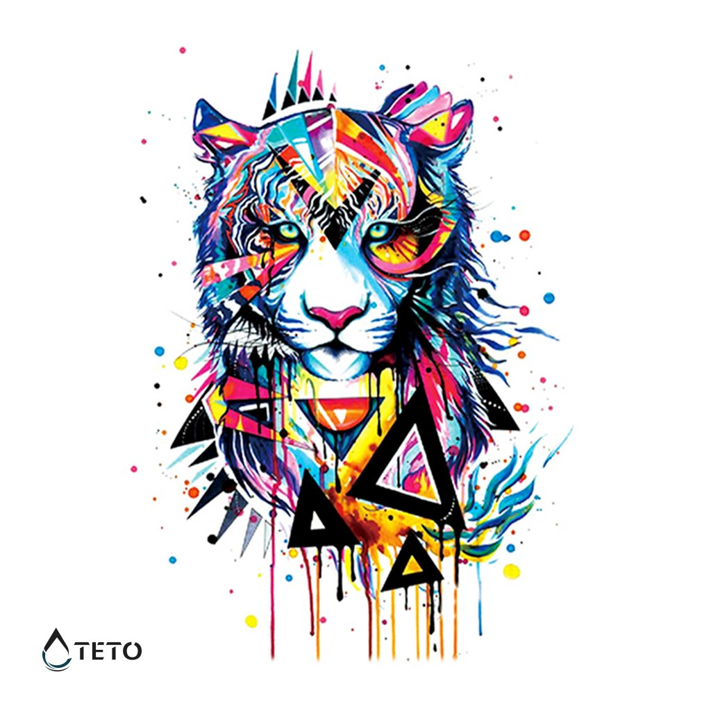 Tygr s trojúhelníkem