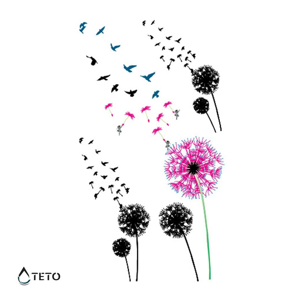 Květiny s ptáky – set