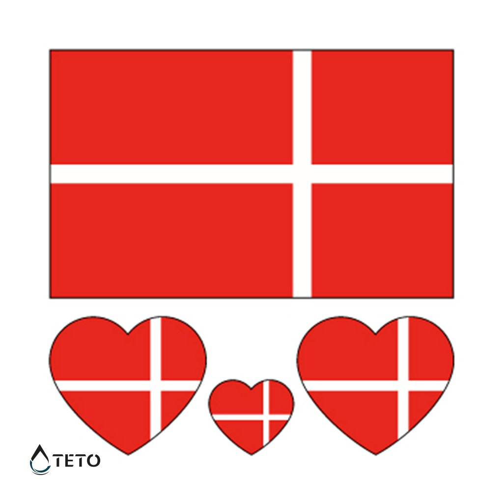 Vlajka Dánsko – set