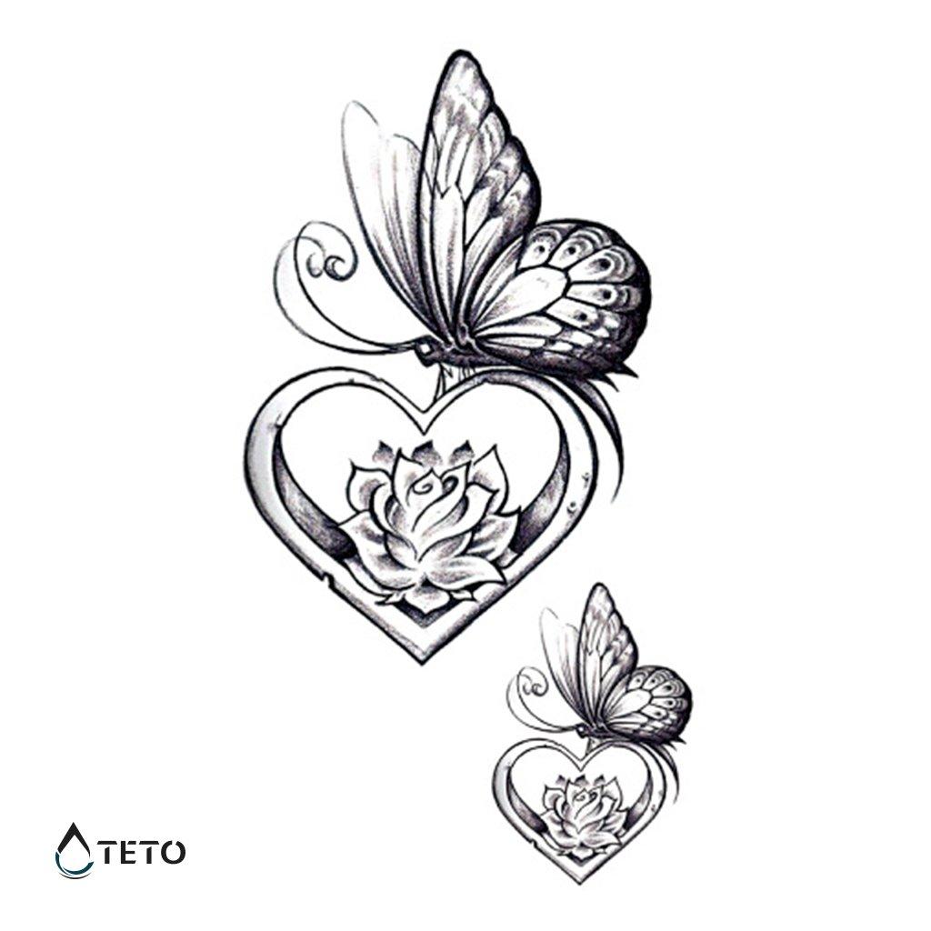 Motýl – srdce – set
