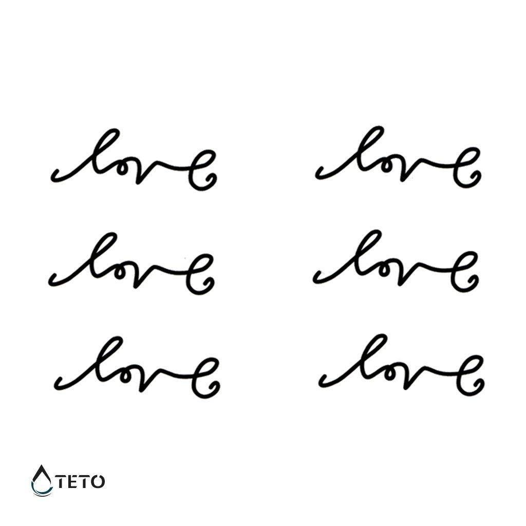 Text love - láska - set
