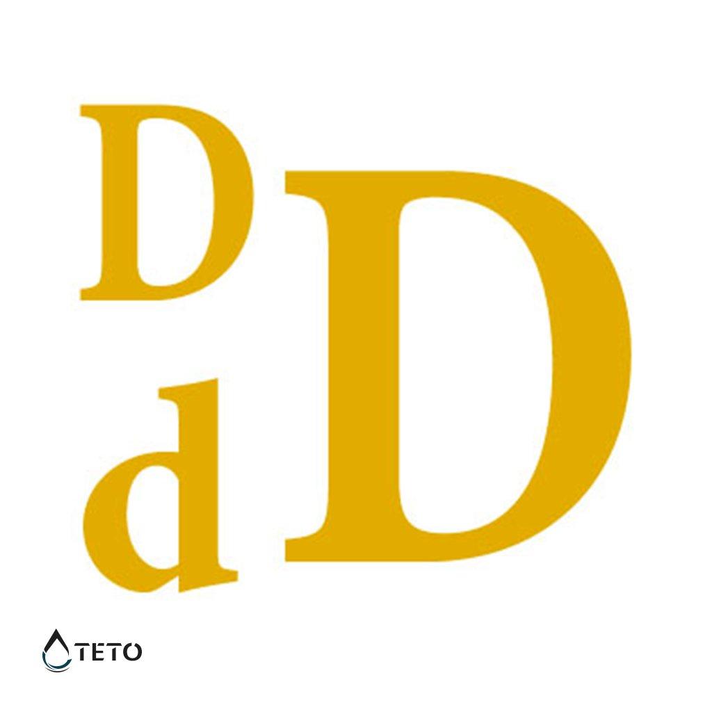 Písmeno D – metalické – set