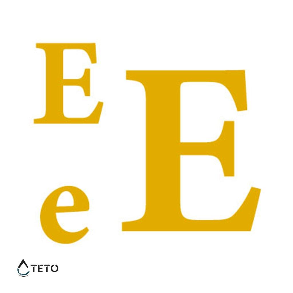 Písmeno E – metalické – set