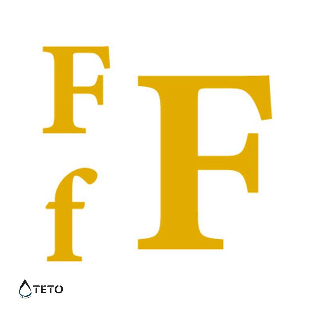 Písmeno F – metalické – set