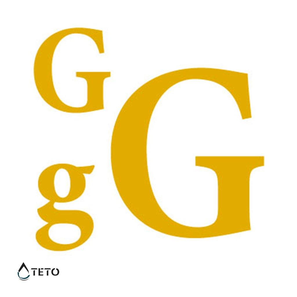 Písmeno G – metalické – set