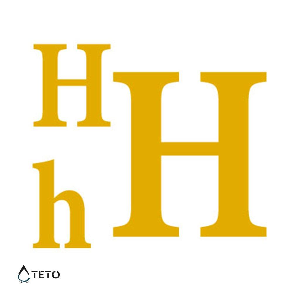 Písmeno H – metalické – set