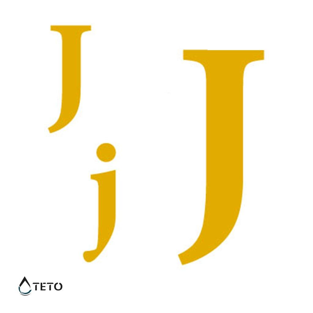 Písmeno J – metalické – set