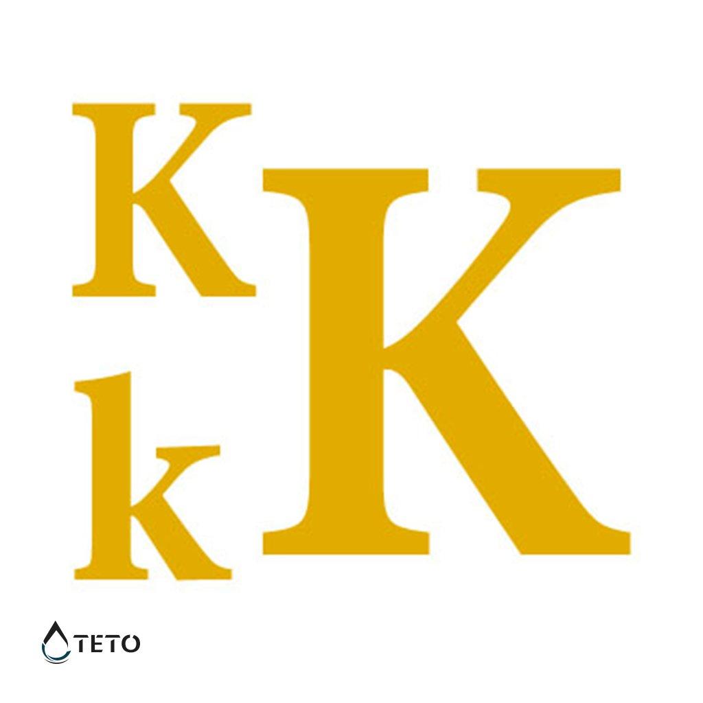 Písmeno K – metalické – set