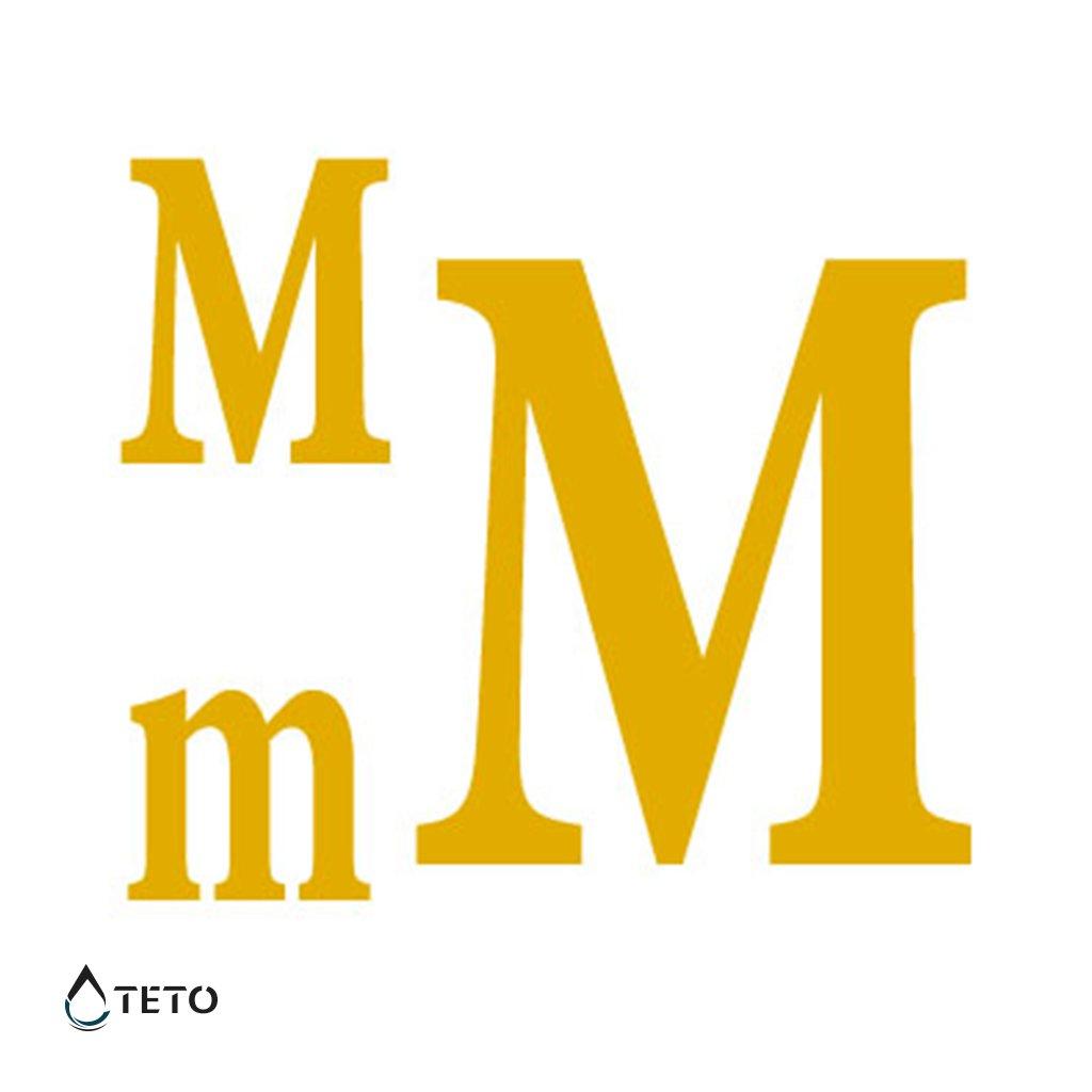 Písmeno M – metalické – set