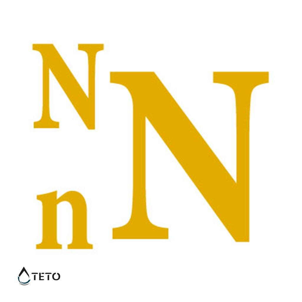 Písmeno N – metalické – set