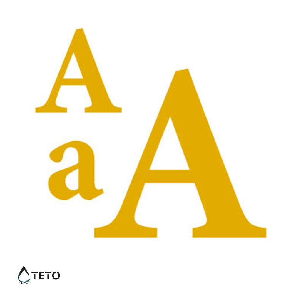 Písmeno A – metalické – set