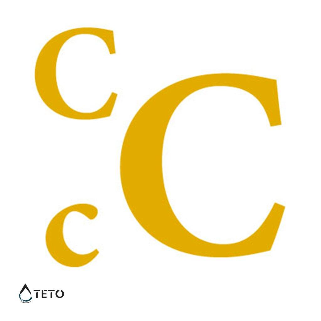 Písmeno C – metalické – set